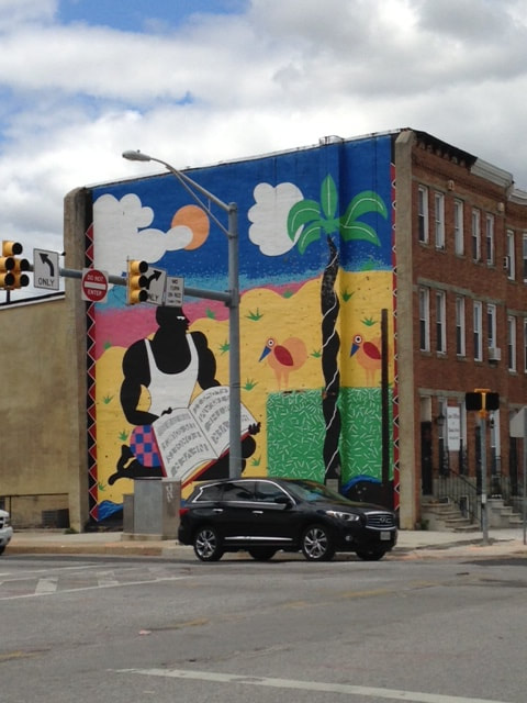 Jackie abrams blog for Baltimore mural program